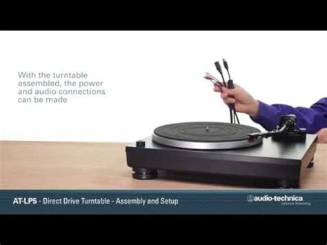AT-LP5 Setup | Direct-Drive Turntable - YouTube